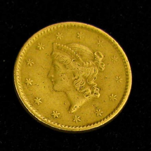 23: 1851 $1 U.S. Liberty Head Gold Coin-Investment Pote