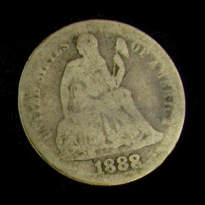 1888 Seated Liberty Dime Coin - Investment