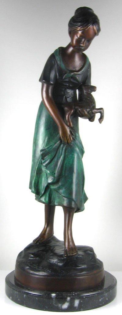 Skirted Woman Bronze