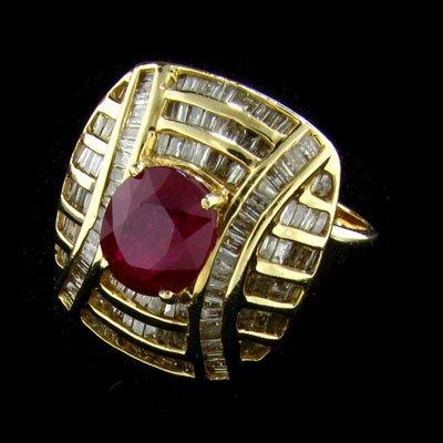 APP: $15.3k 14 kt. Gold, 2.37CT Ruby & Diamond Ring