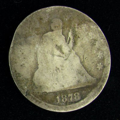 1878 Seated Liberty Quarter Dollar Coin - Investment