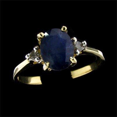 APP: $1k 14 kt. Gold, 1.39CT Sapphire & Diamond Ring