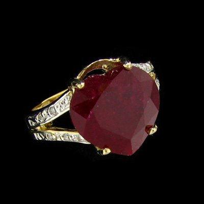 APP: $20.6k 14 kt. Gold, 7.54CT Ruby & Diamond Ring