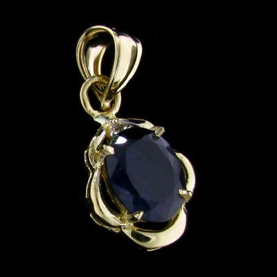 14 kt. Gold, Sapphire & Diamond Pendant