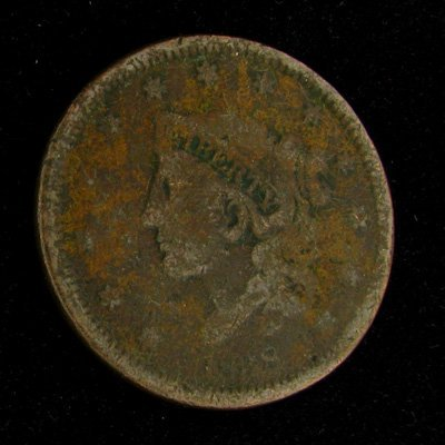 1838 Liberty Head Type One Cent Coin - Investment