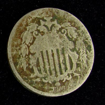 1866 Shield Type Five Cent Coin - Investment
