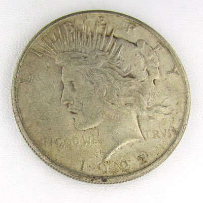 1922-S Peace Dollar Coin - Investment