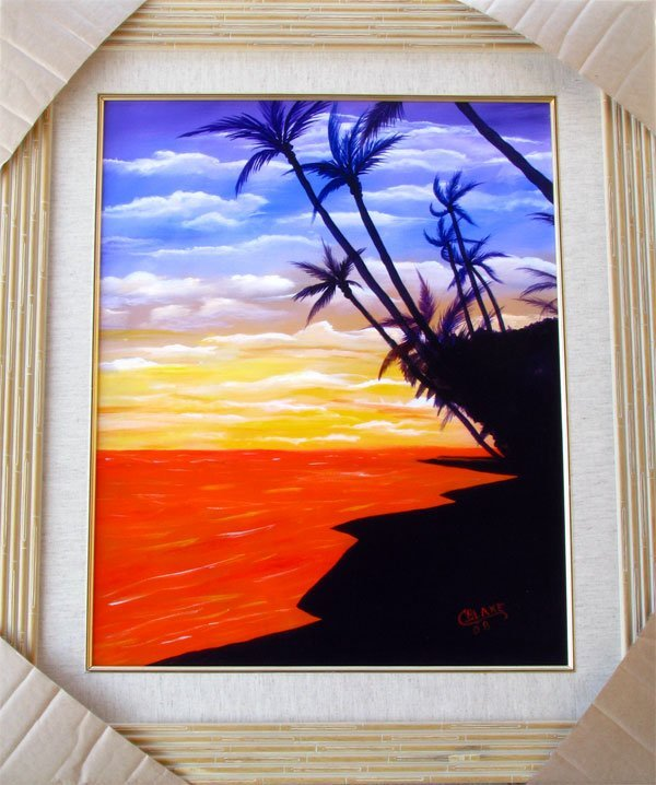 Kaanapali Sunset Glow', Framed Print