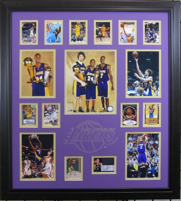 08-09 Lakers Champions - Authentic Signatures