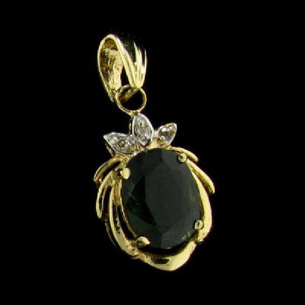 14kt. Gold, Sapphire Pendant