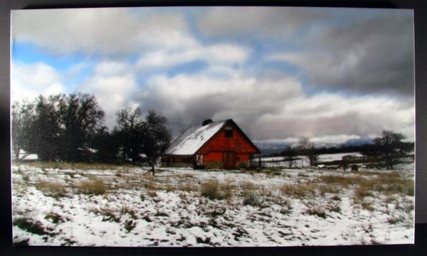 Tehachapi Painted Barn - Stretched Canvas Giclée