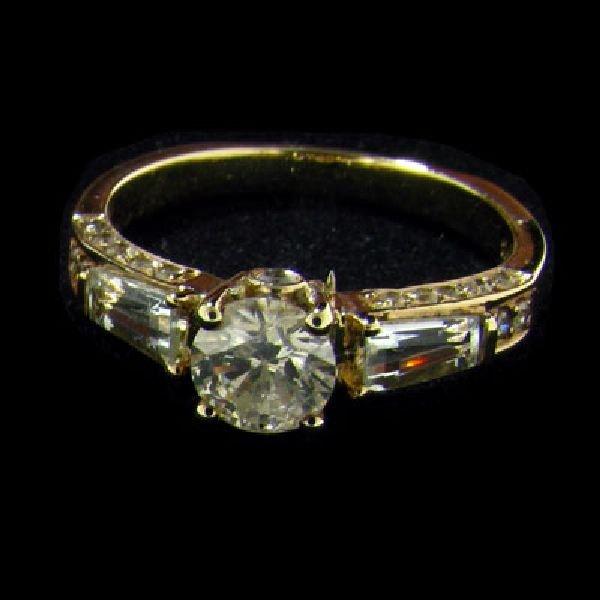 APP: $3.3k 14kt. Gold, 0.58CT Diamond & Aquamarine Ring