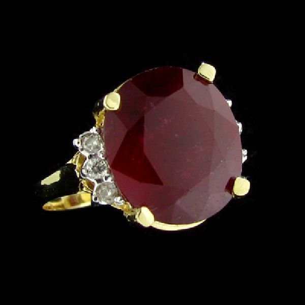 APP: $24.8k 14kt. Gold, 9.28CT Ruby & Diamond Ring