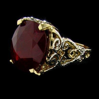 APP: $11.8k 14 kt. Gold, 9.61CT Ruby & Diamond Ring