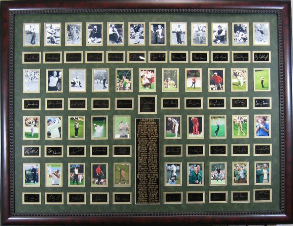 Golf Masters Plate Signed - 1934 to 2009