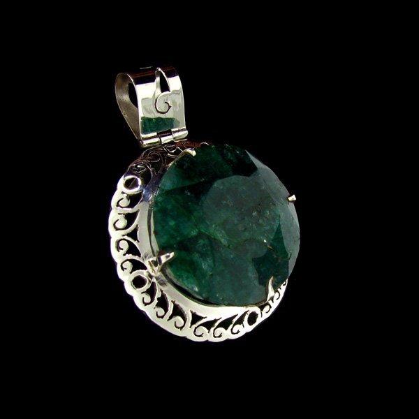 APP: $55.3k 66.99CT Emerald Sterling Silver Pendant