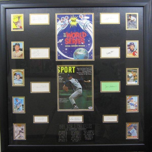 1965 World Champion Dodgers - Authentic Signatures