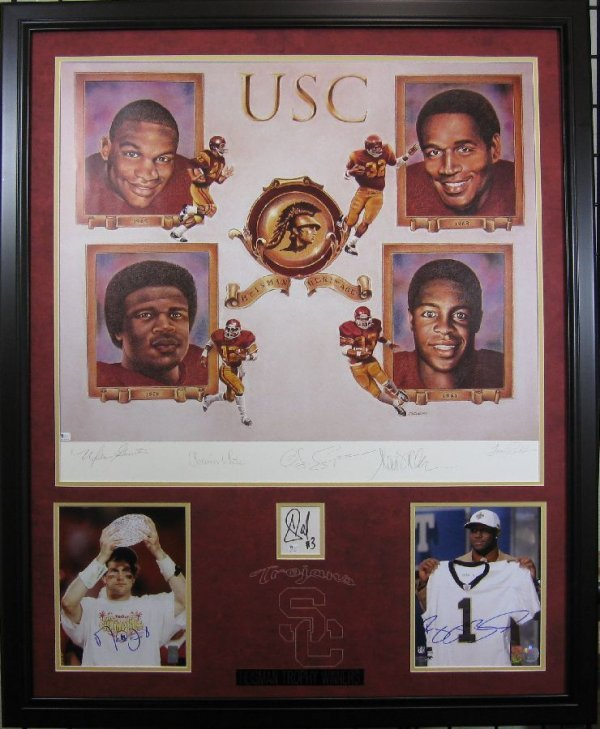 USC Heisman Trophy Winners - Authentic Signatures