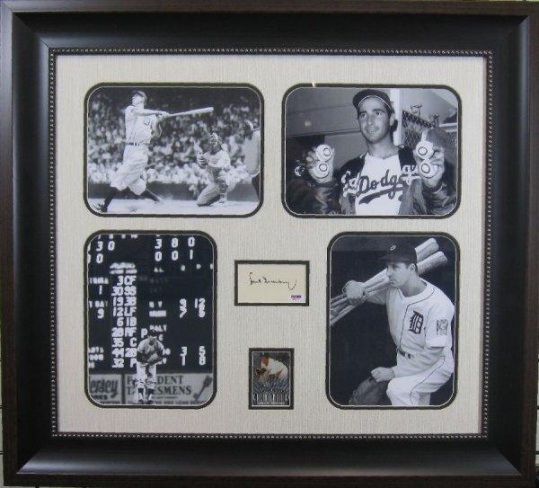 Jewish Baseball Legends - Authentic Signature