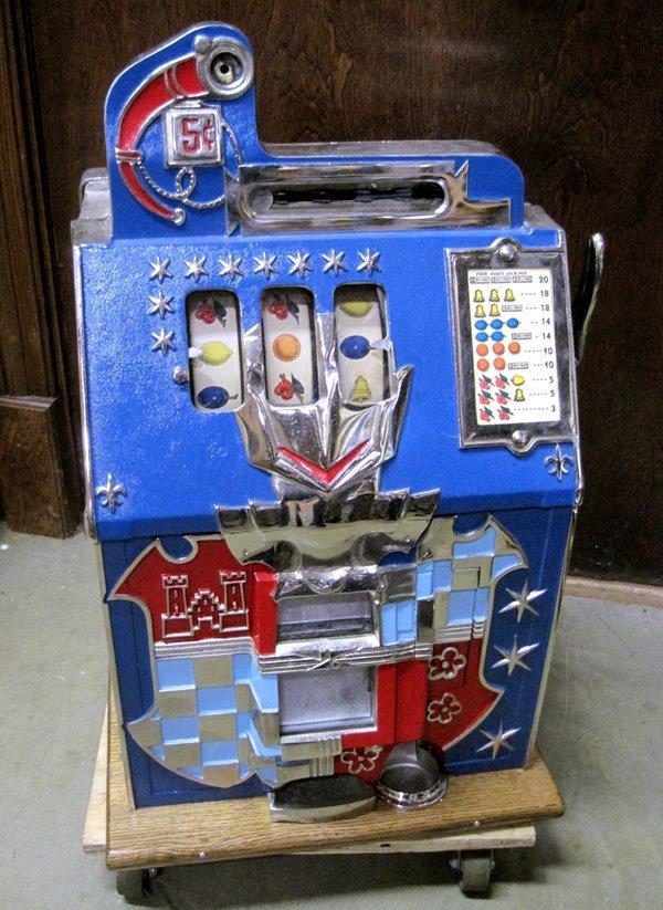 5 Cent Castle Front Mills Slot Machine