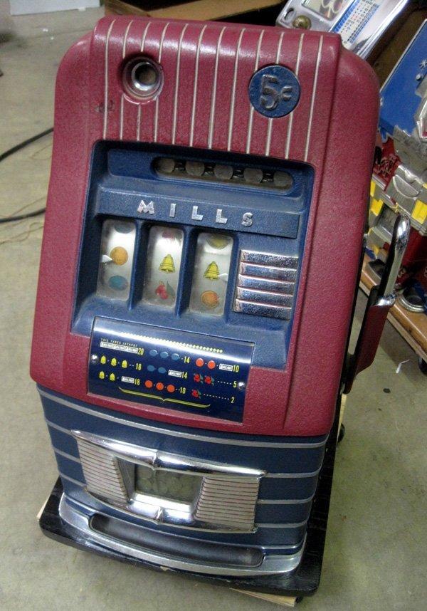Restored 5 Cent Mills High Top Slot Machine