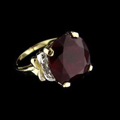 APP: $25.3k 14kt. Gold, 13.65CT Ruby & Diamond Ring