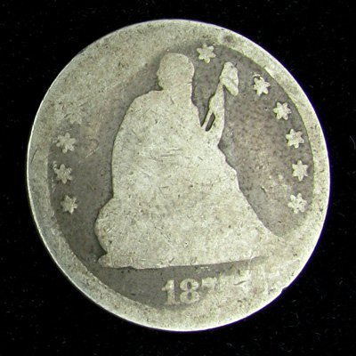 187X Seated Liberty Quarter Dollar Coin - Investment