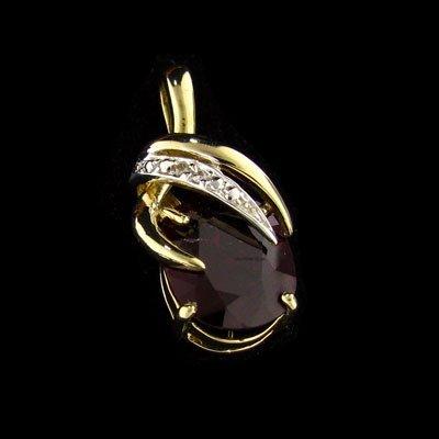 APP: $16.2k 14kt. Gold, 5.94CT Ruby & Diamond Pendant