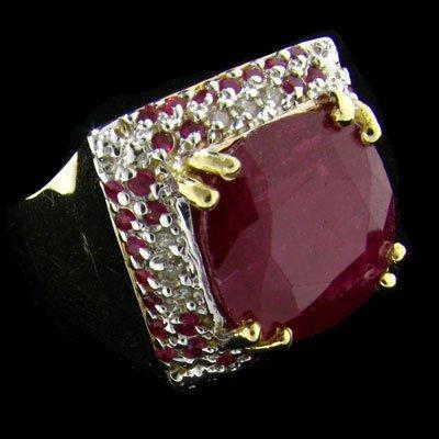 APP: $14.9k 14kt. Gold, 16.43CT Ruby & Diamond Ring