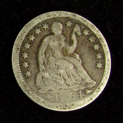 1X54 Seated Liberty Half Dime Coin - Investment