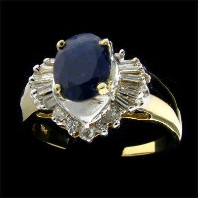 APP: $2.6k 14kt. Gold, 1.38CT Sapphire & Diamond Ring