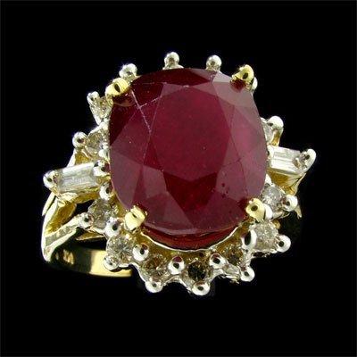 APP: $13.3k 14 kt. Gold, 8.64CT Ruby & Diamond Ring