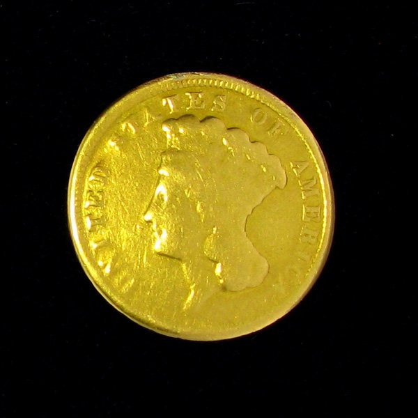 1854 $3 U.S Indian Head Gold Coin - Investment