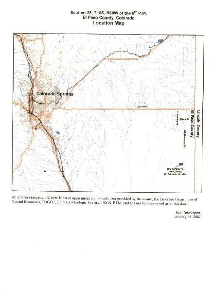 GOV: CO LAND, 37 AC. EL PASO COUNTY STRAIGHT SALE! - 4