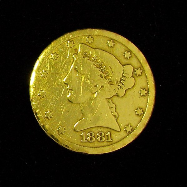 1881 $5 U.S. Liberty Head Gold Coin - Investment