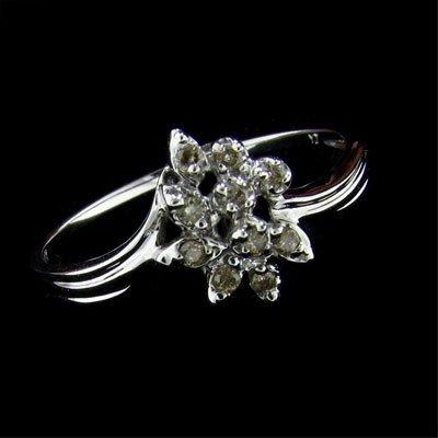 14 kt. White Gold, Diamond Ring