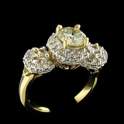 APP: $7.2k 14 kt. Gold, 1.14CT Diamond Ring