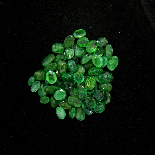 APP: $6.3k 20.10CT Oval Cut Emerald Parcel