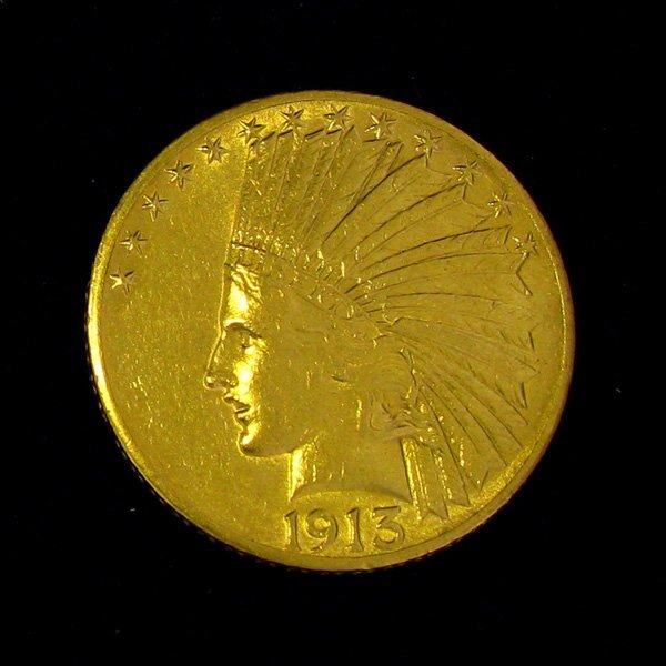 1913 $10 U.S Indian Head Gold Coin - Investment