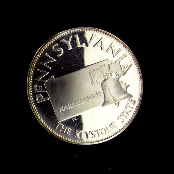Pennsylvania State Sterling Silver 1oz. Coin