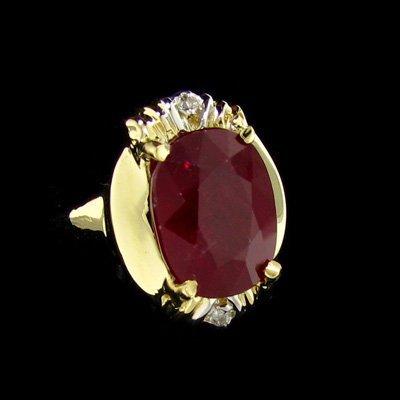 APP: $17.3k 14 kt. Gold, 6.26CT Ruby & Diamond Ring