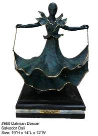 *Rare Limited Edition Numbered Bronze Dali ''''Dalinian