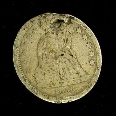 1856 Seated Liberty Dime Coin - Investment