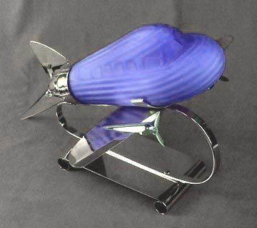 Blue Airplane Lamp - Contemporary Collectable