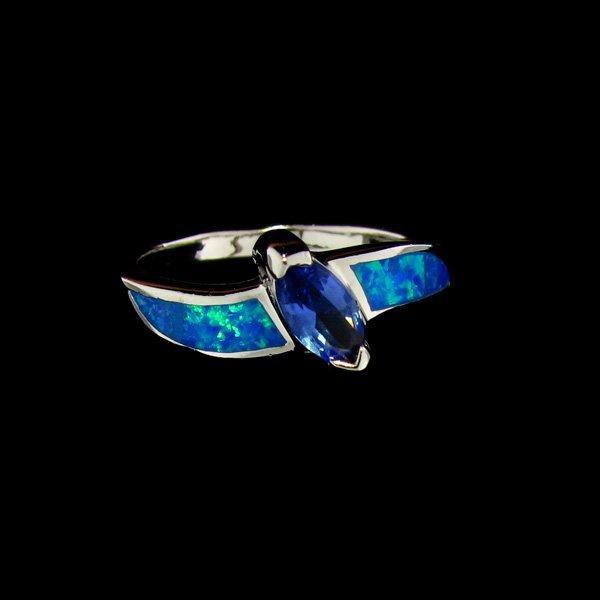 Tanzanite & Opal Sterling Silver Ring