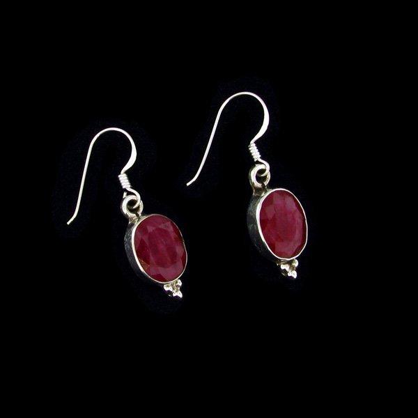 APP: 8.5k 9.13CT Ruby & Sterling Silver Earrings