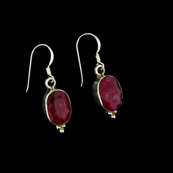 APP: 7.6k 9.11CT Ruby & Sterling Silver Earrings