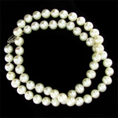 """17"""" Freshwater Pearl Necklace - Long Strand"""