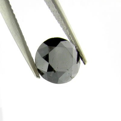 1.55CT Rare Black Diamond Gemstone