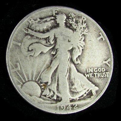 1942 U.S. Walking Liberty Half Dollar Coin - Investment